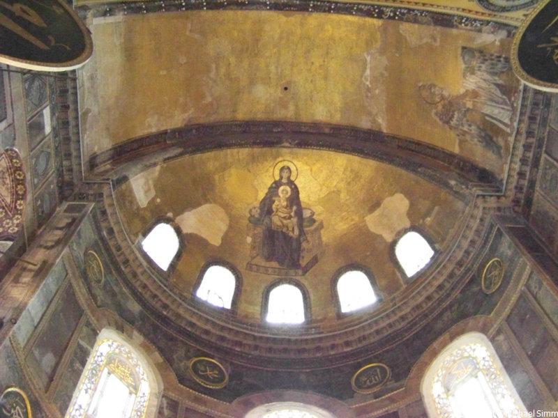 Mosaik in der seitlichen Kuppel