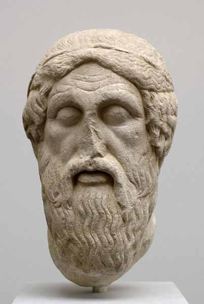 Büste Homers (Kopie, Glyptothek München, Foto: Bibi Saint-Pol)