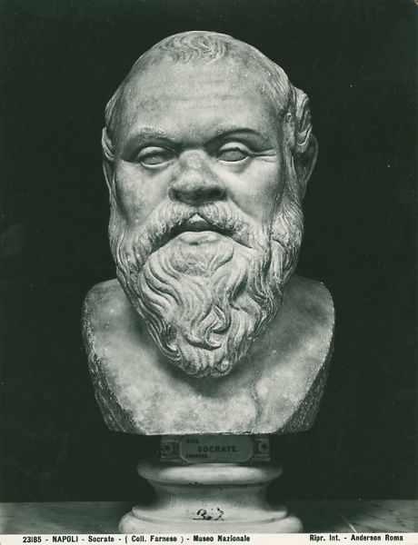 Sokratesbüste im Archäologischen Nationalmuseum Neapel, Inventarnummer 23185, Foto: Domenico Anderson
